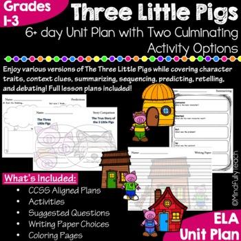 Three Little Pigs Unit Plan {CCSS Aligned}