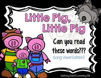 Three Little Pigs Word Game {Long Vowel Edition}