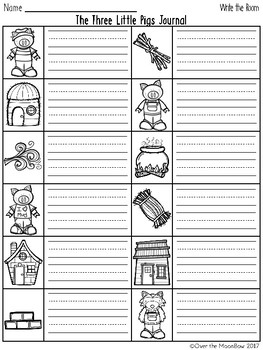 Three Little Pigs Write / Stamp the Room Activity Pack