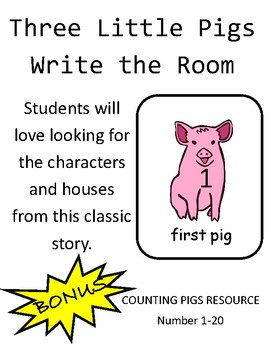 Three Little Pigs Write the Room