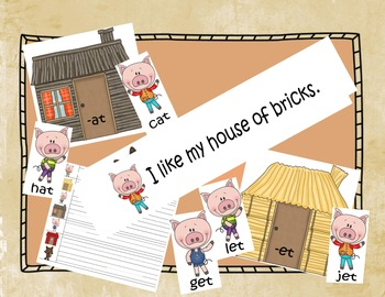 Three Little Pigs Write the Room and Literacy Center