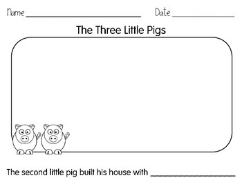 Three Little Pigs Writing Packet