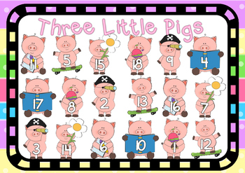 Three Little Pigs- Addition Game Board