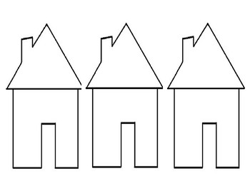 Three Little Pigs house template
