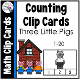 Three Little Pigs Counting Clip Cards 1-20