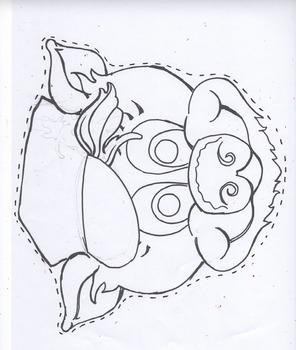 Three Little Pigs/black line masks