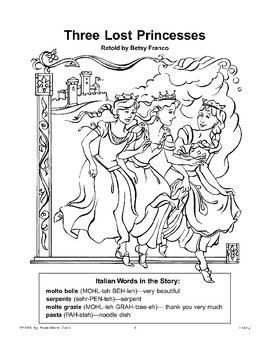 Three Lost Princesses: An Italian Folktale