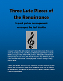 Three Lute Pieces of the Renaissance (sheet music for guit