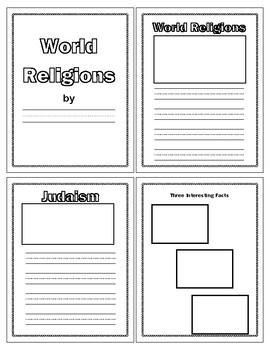 Three Major World Religions Book Template