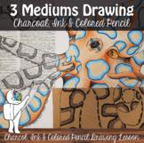 Three Mediums Drawing Lesson - High School/Middle School D