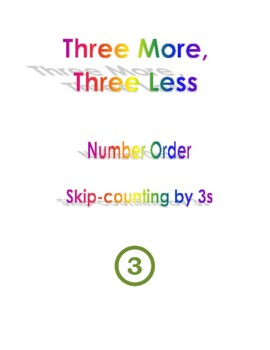 Three More Three Less Graphic Organizer Number Order