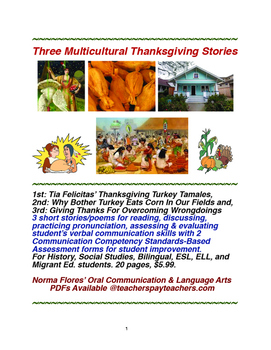 Three Multicultural Thanksgiving Stories
