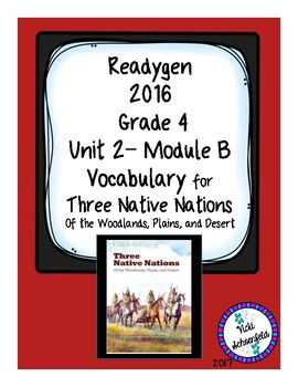 Three Native Nations  Grade 4 Readygen Vocabulary