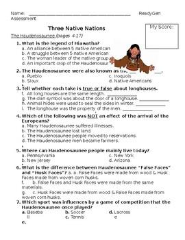 Three Native Nations ReadyGen Assessment