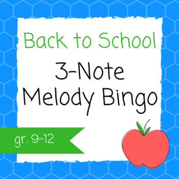 Three Note Melody Bingo for Ear Training