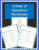 Three Order of Operations Worksheets w/ Answer Keys
