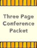 Three Page Conference Packet