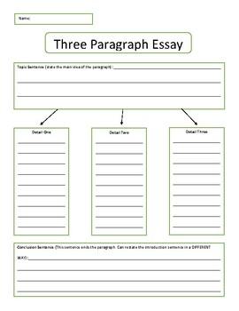 3 paragraph essay organizer