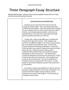 Three Paragraph Essay Structure - Example and Exercise