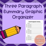 Three Paragraph Summary Graphic Organizer