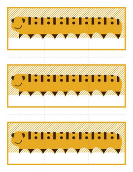 Game Template - Open-Ended Caterpillar Three Card Multi-Use Matching Game