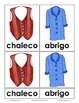 Three Part Cards of Clothing in English and Spanish Montessori