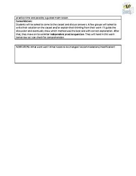 Three-Part Math Division Lesson - Differentiated, Grade 5