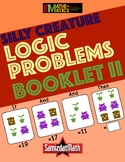 Three Part Number Logic Problems - Silly Creature Themed -