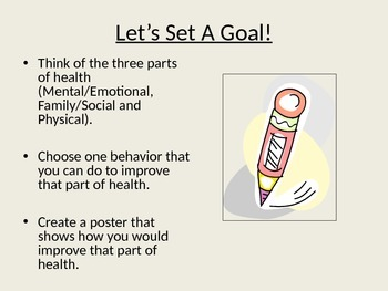 Three Parts of Health Power Point