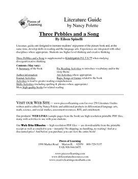 Three Pebbles and a Song Literature Guide