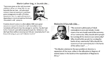 Compare & Contrast Booker T. Washington, W.E.B. Du Bois, & Marcus Garvey Lesson