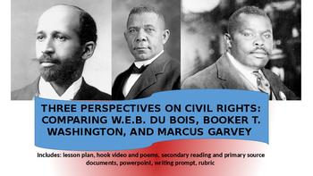 Compare & Contrast Booker T. Washington, W.E.B. Du Bois, & Marcus Garvey Lesson