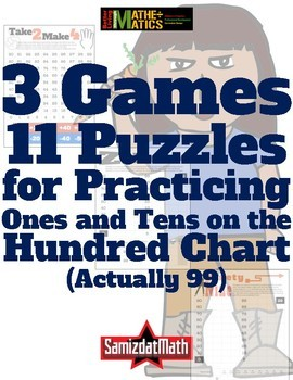 Three Phecking Good Games & 11 Puzzles on the Hundreds (99) Chart