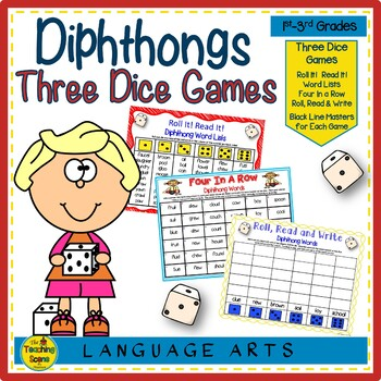 Three Phonics Diphthong Dice Games