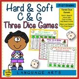 Three Phonics Hard & Soft C & G Sounds Dice Games