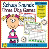 Three Phonics Schwa Sound Dice Games
