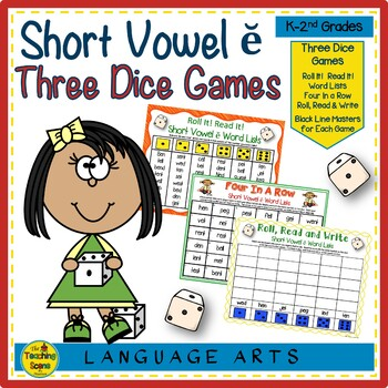 Three Phonics Short Vowel ĕ Dice Games