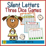 Three Phonics Silent Letters Dice Games