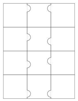 Three Piece Puzzles - Blank