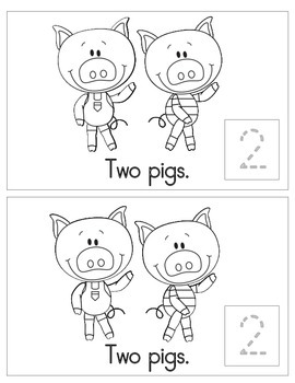 Three Pigs Counting Mini Book