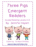 Three Pigs Emergent Readers - Guided Reading Levels A-D