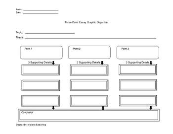 Three Point Essay Graphic Organizer