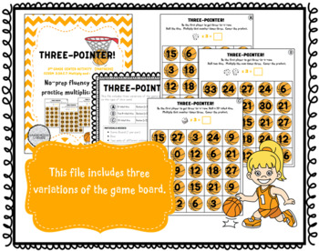 Three-Pointer: A Multiplication Fact Game for Fluency with 3s