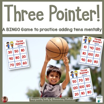 Adding Tens: Basketball Themed BINGO Game