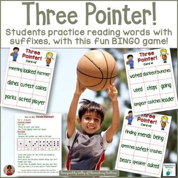 Suffixes: Basketball Themed BINGO Game