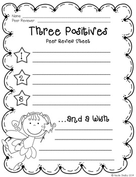 Three Positives and a Wish Freebie