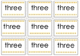 Three Pre-Primer Sight Word Flash Cards
