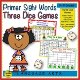 Three Primer Sight Word Dice Games