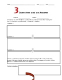 Three Questions and an Answer Reading Comprehension