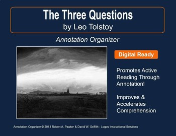 """Three Questions"" by Leo Tolstoy: Annotation Organizer"